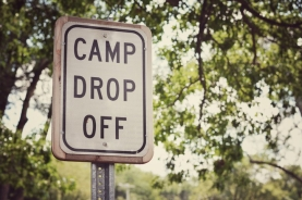 Camp Drop Off sign