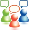 Vector member chat icon